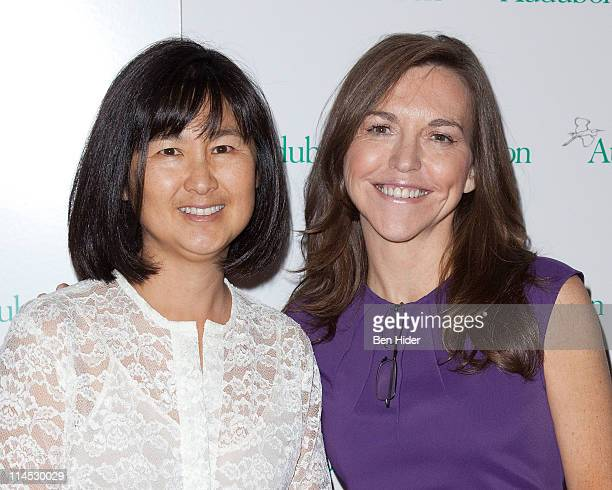 Artist Maya Lin and Allison Rockefeller attend the 8th annual National Audubon Society Women in Conservation luncheon at The Plaza Hotel on May 23...
