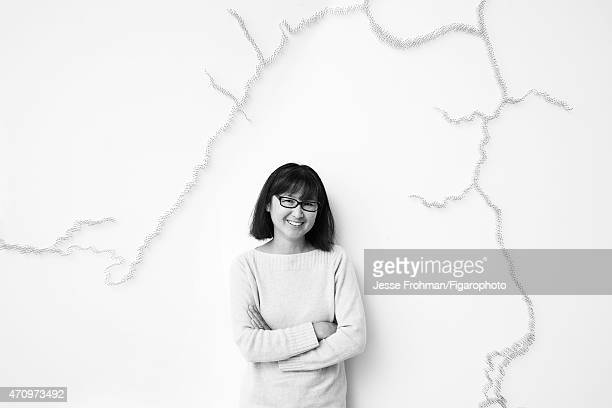 Artist Maya Lin is photographed for Madame Figaro on September 17 2013 in New York City CREDIT MUST READ Jesse Frohman/Figarophoto/Contour by Getty...