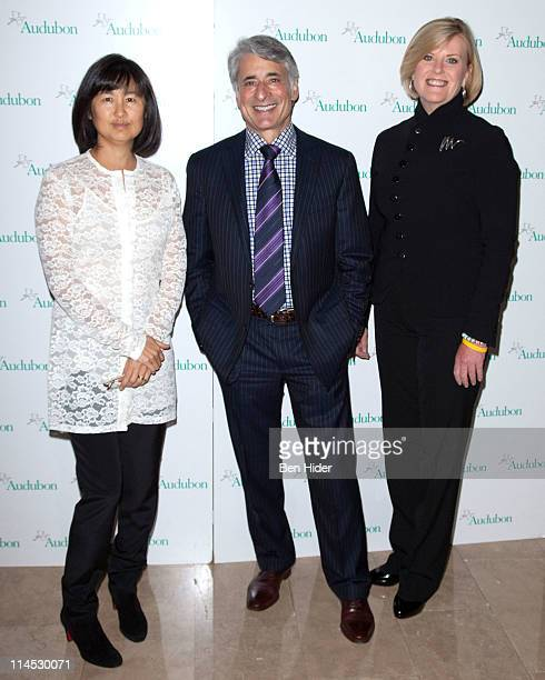 Artist Maya Lin President and CEO of Audubon David Yarnold and NBC News Correspondent Anne Thompson attend the 8th annual National Audubon Society...