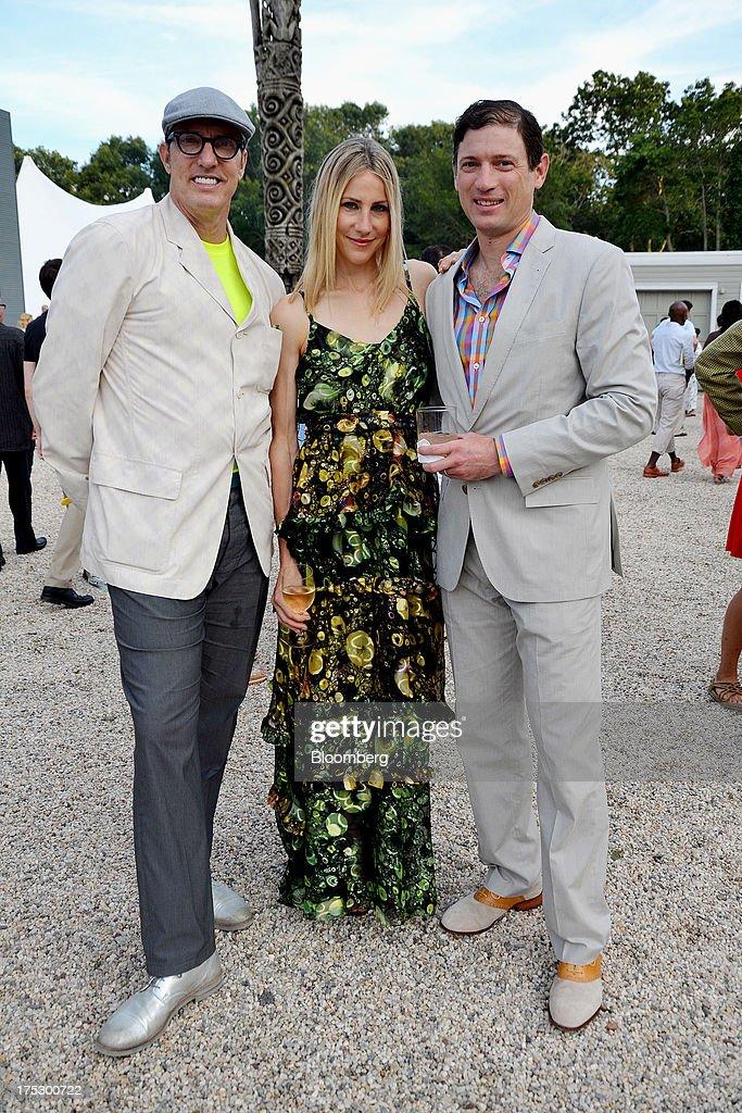 Artist Maynard Monrow, left, Glenn Fuhrman, co-founder of