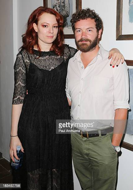 Artist Mercedes Helnwein and Actor Danny Masterson attend 'The Trouble With Dreams' gallery reception by Mercedes Helnwein at Merry Karnowsky Gallery...