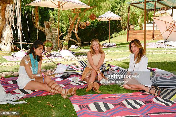 Artist Meredith Wing Television Personality Diana Madison and Sheneh Alaee attend Riviera Brunch hosted by GREY GOOSE at Soho Desert House on April...