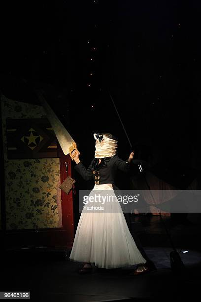 Artist Meret Becker performs in the cabaret premiere: 'The fabulous variete show' during the reopening of the Berlin Wintergarten Variete on February...