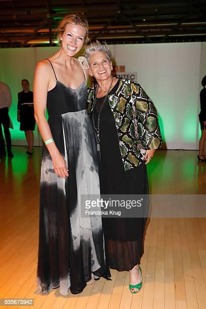 Artist Mia Florentine Weiss and Heidi Kranz attend the Green Tec Award at ICM Munich on May 29, 2016 in Munich, Germany.