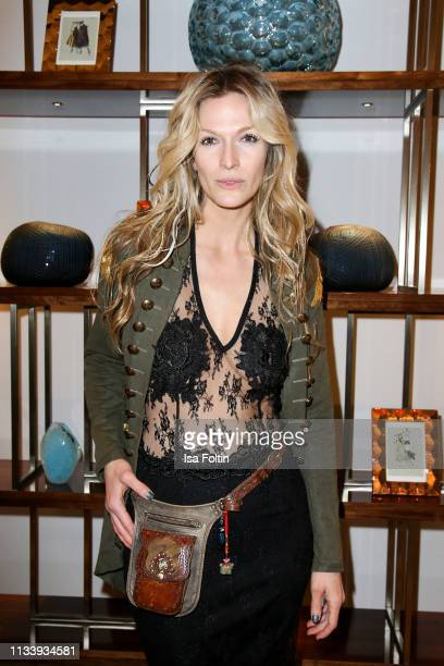 Artist Mia Florentine Weiss during the Ritz Carlton Berlin Re-Opening Party at Ritz Carlton on March 5, 2019 in Berlin, Germany.
