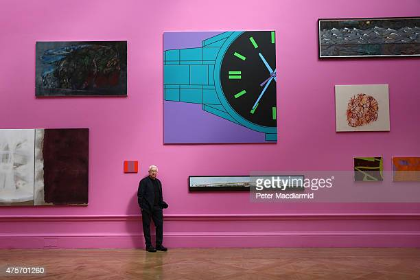 Artist Michael CraigMartin RA coordinator of the Summer Exhibition 2105 poses for a photograph at The Royal Academy on June 3 2015 in London England...