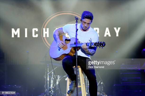 Artist Michael Ray performs onstage for New Faces of Country Music Show for Day 3 of CRS 2018 on February 7 2018 in Nashville Tennessee