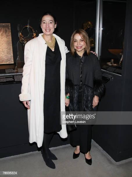 Artist Michelle Oka Doner and designer Nancy Alexander attend the Blogmode Addressing Fashion reception at The Metropolitan Museum of Art on December...