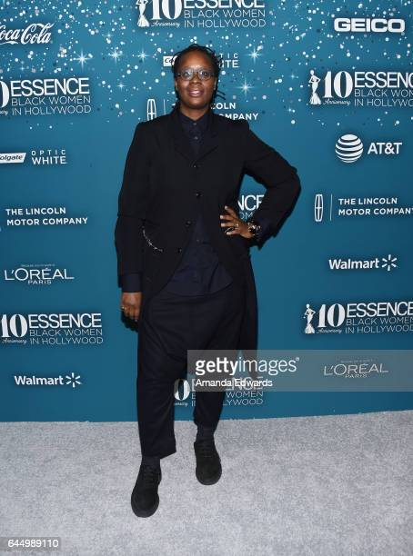 Artist Mickalene Thomas arrives at the Essence 10th Annual Black Women in Hollywood Awards Gala at the Beverly Wilshire Four Seasons Hotel on...