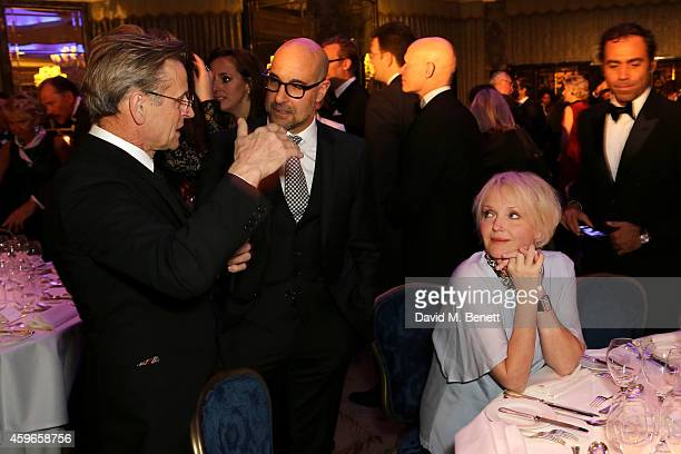 Artist Mikhail Baryshnikov actors Stanley Tucci and Miranda Richardson attend Dancing Away photographic exhibition by Mikhail Baryshnikov at...
