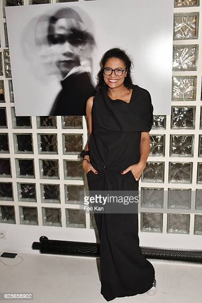 Artist Missia O attends In Beetween Collective Exhibition Preview at Galerie 18 on November 24 2016 in Paris France