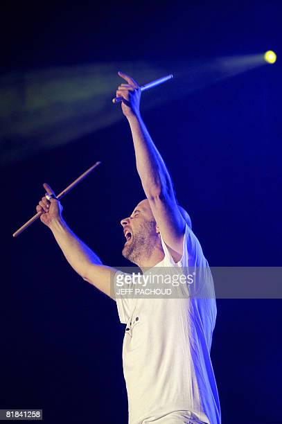 US artist Moby performs on July 6 2008 in Belfort during the 20th Eurockeennes de Belfort music festival AFP PHOTO / JEFF PACHOUD