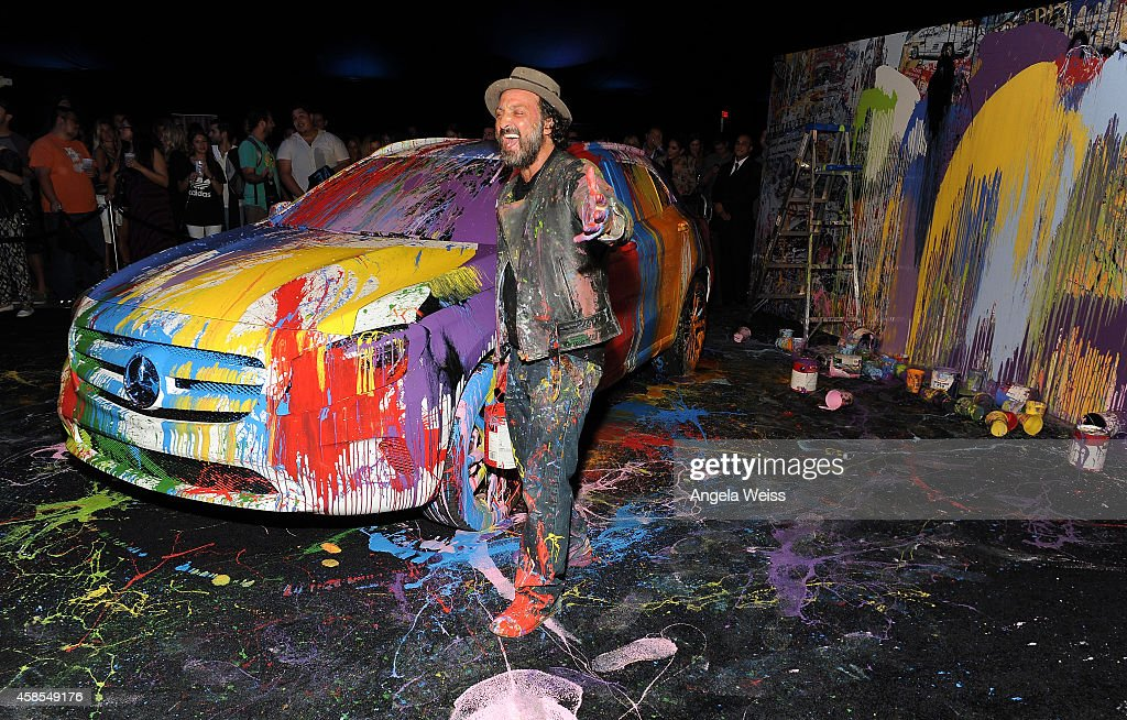 Artist Mr. Brainwash aka MBW attends the Mercedes-Benz Evolution Tour with Alabama Shakes & Young the Giant at The Barker Hangar on November 6, 2014 in Santa Monica, California.