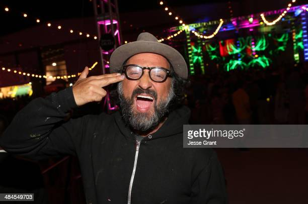 Artist Mr Brainwash attends NYLON and Olay Fresh Effects Present Neon Carnival with GUESS on April 12 2014 in Thermal California