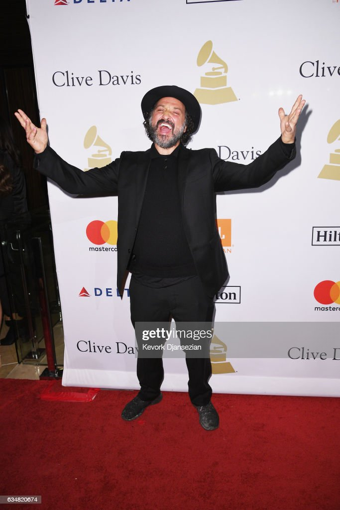 Artist Mr. Brainwash attends Pre-GRAMMY Gala and Salute to Industry Icons Honoring Debra Lee at The Beverly Hilton on February 11, 2017 in Los Angeles, California.