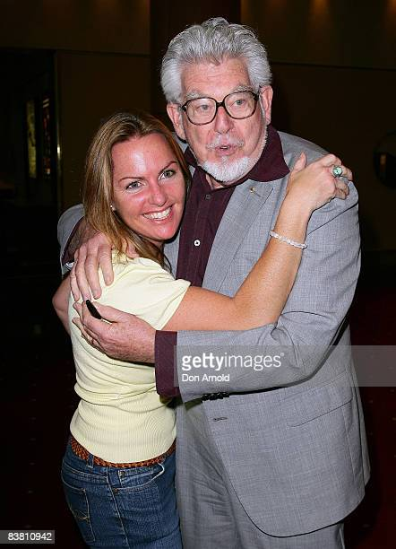 Artist musician and author Rolf Harris hugs photographer Gaye Gerard during a literary lunch to promote his latest book 'Tie Me Kangaroo Down Sport'...