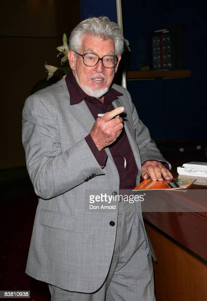 Artist musician and author Rolf Harris poses during a literary lunch to promote his latest book 'Tie Me Kangaroo Down Sport' at Star City on November...