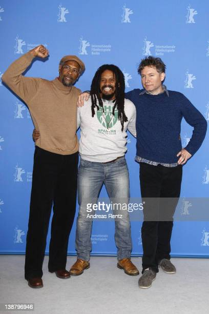 Artist Neville Garrick Rohan Marley and director Kevin Macdonald attend the Marley Photocall during day four of the 62nd Berlin International Film...
