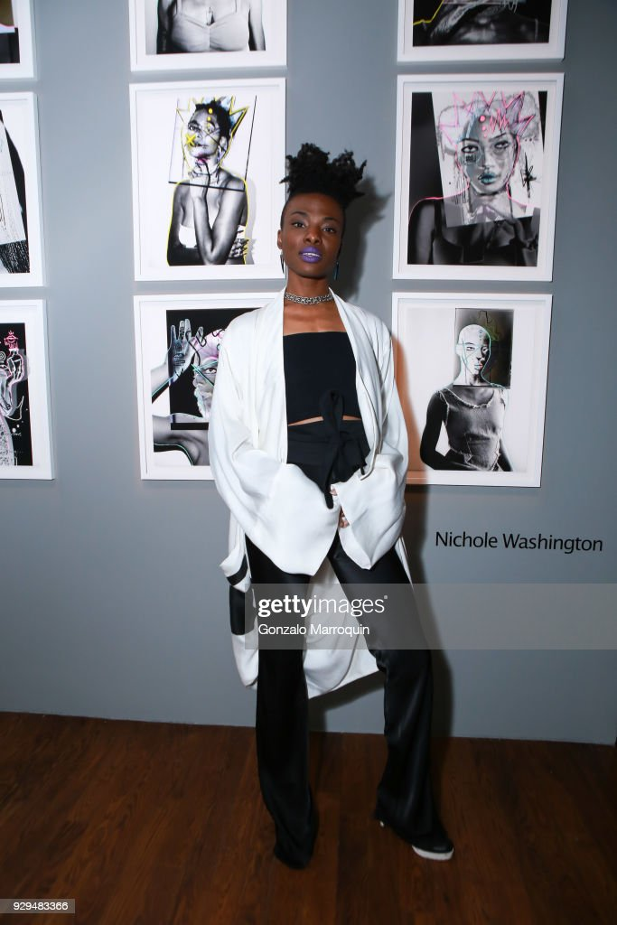 Artist Nichole Washington during the ArtLeadHER Presents 'Her Time Is Now' at Urban Zen on March 8, 2018 in New York City.