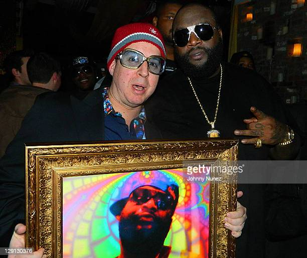 Artist Noah G Pop and rapper Rick Ross attends the Maybach Music Group Self Made Vol1 Album Listening Party at HK Lounge on May 4 2011 in New York...