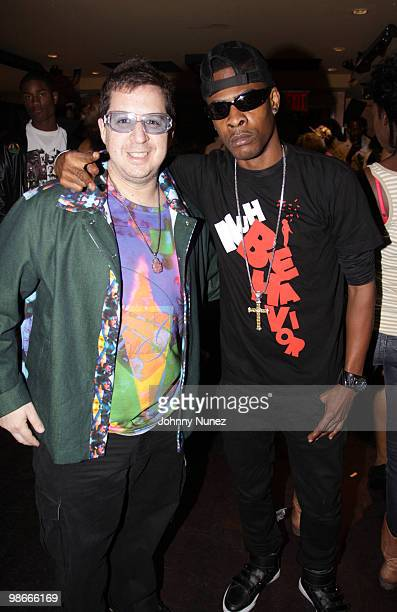 Artist Noah G Pop and Recording artist Mr Lexx attend NYC Caribbean Fashion Rocks at LQ Nightclub on April 25 2010 in New York City