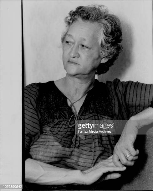 Artist Norman Lindsay's favourite model Rita Young photographed at a flat in Kingscross December 6 1981
