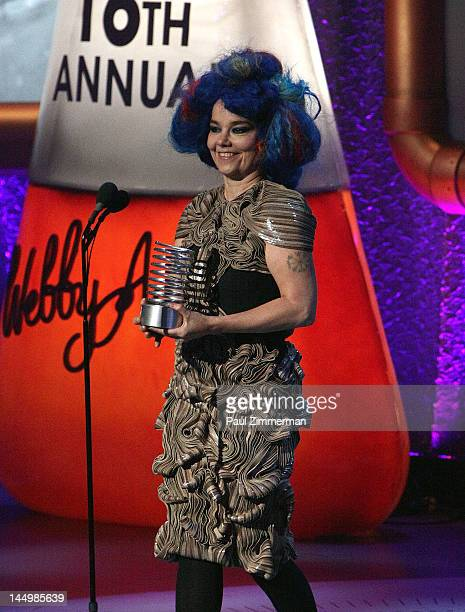 Artist of the Year Bjork attends the 16th Annual Webby Awards at Hammerstein Ballroom on May 21 2012 in New York City