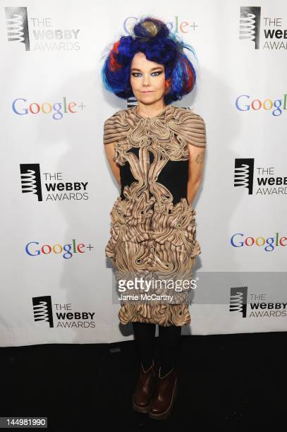 Artist of the Year Bjork attends the 16th Annual Webby Awards on May 21 2012 in New York City