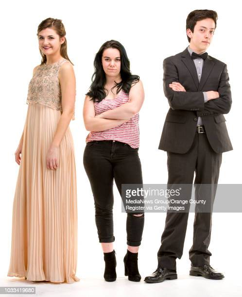 from left Kaitlin Barron JSerra Catholic High School Medora Zani Dana Hills High and Gabriel Andrade Godinez Fundamental High ///ADDITIONAL...
