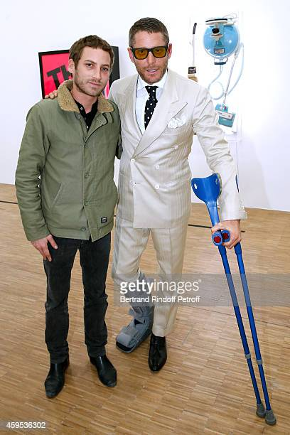 Artist Ora Ito and Lapo Elkann attend the 'Jeff Koons' Retrospective Exhibition Opening Evening at Beaubourg on November 24 2014 in Paris France