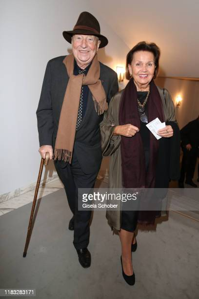 Artist painter Georg Baselitz and his wife Elke Baselitz at the opera premiere of Die tote Stadt by Erich Wolfgang Korngold at Bayerische Staatsoper...