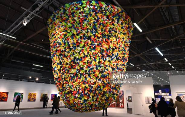 TOPSHOT Artist Pascale Marthine Tayou's Plastic Bags is on display at the The Armory Show in New York March 6 staged on Manhattans Piers 90 and 94...