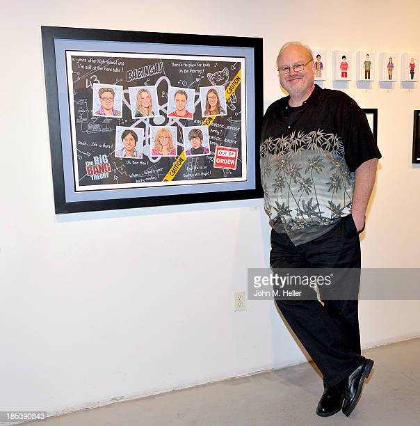 Artist Paul Madden attends the Nucleus and Warner Bros Present's The Physics of Friendship A Tribute to the Big Bang Theory at the Nucleus Gallery on...