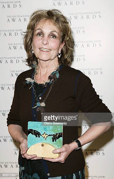 Artist Paula Rego poses with the award for Visual Arts at the South Bank Show Awards at The Savoy on January 27, 2005 in London. The annual awards...