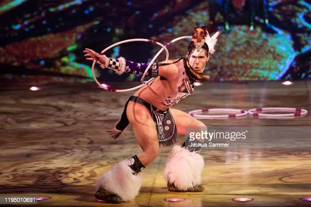 "Artist performs at the premiere of the new Cirque du Soleil Show ""TOTEM"" on December 19, 2019 in Dusseldorf, Germany."