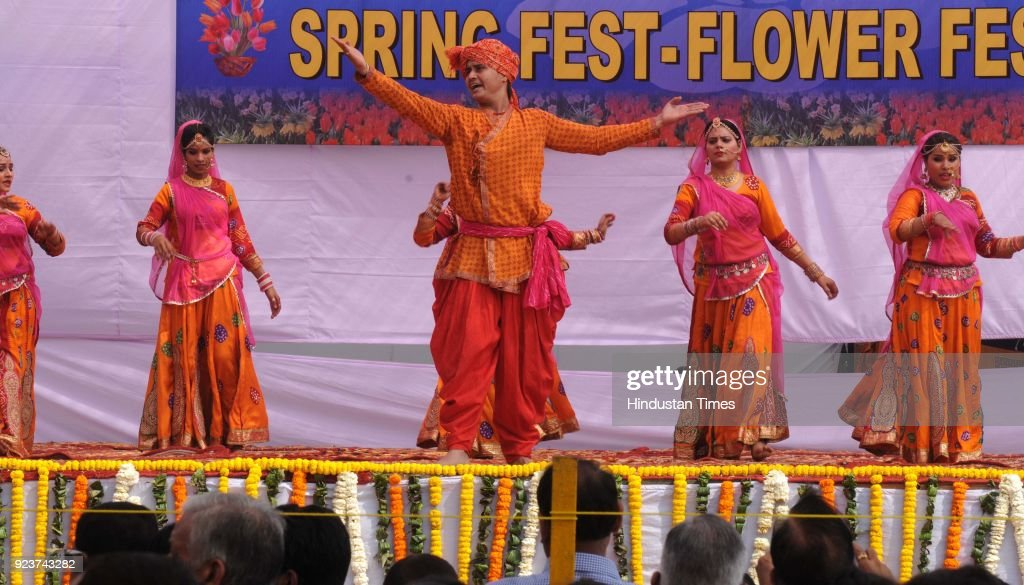 Haryana Urban Development Authority Organized Spring Fest Flowers Festival In Gurgaon