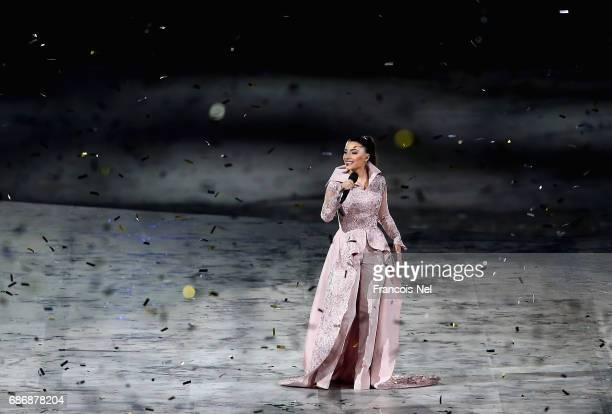 A artist performs during the Closing Ceremony for the Baku 2017 4th Islamic Solidarity Games at Olympic Stadium on May 22 2017 in Baku Azerbaijan