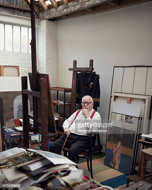 Artist Peter Blake is photographed for the Independent on October 3 2014 in London England