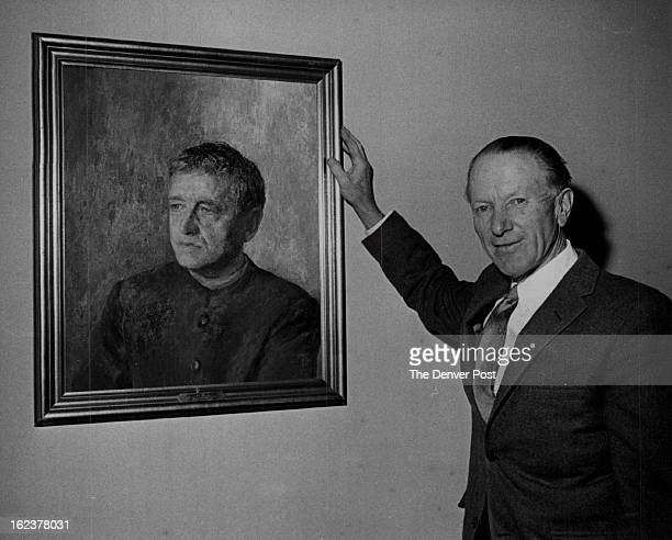 APR 11 1965 APR 13 1966 Artist Peter Hurd Stands Before Portrait Made for Time Magazine Cover This portrait of Andrew Wyeth appeared on Dec 27 1963...