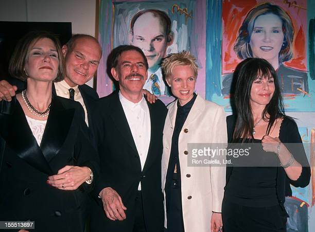 Artist Peter Max wife daughter and James Carville attend Peter Max Art Exhibit Opening on April 29 1999 at the Dyansen Gallery in New York City