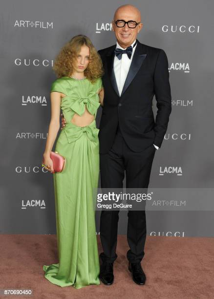 Artist Petra Collins, and Gucci CEO Marco Bizzarri arrive at the 2017 LACMA Art + Film Gala honoring Mark Bradford and George Lucas at LACMA on...