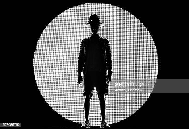 Artist Pharrell Williams is photographed for Self Assignment on April 20 2014 in Paris France