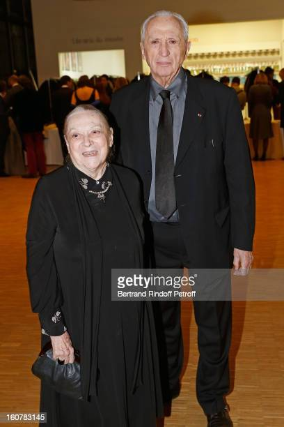 Artist Pierre Soulages and his wife Colette attend the 8th Annual Dinner of the 'Societe Des Amis Du Musee D'Art Moderne' at Centre Pompidou on...