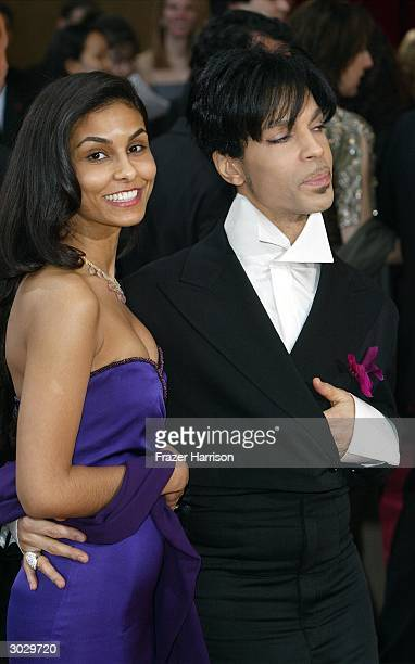Artist Prince and second wife Manuela Testolini attend the 76th Annual Academy Awards at the Kodak Theater on February 29 2004 in Hollywood California