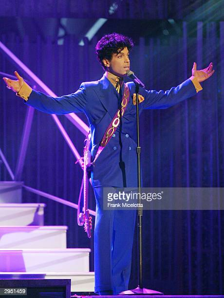 Artist Prince performs during the 46th Annual Grammy Awards held at the Staples Center on February 8 2004 in Los Angeles California