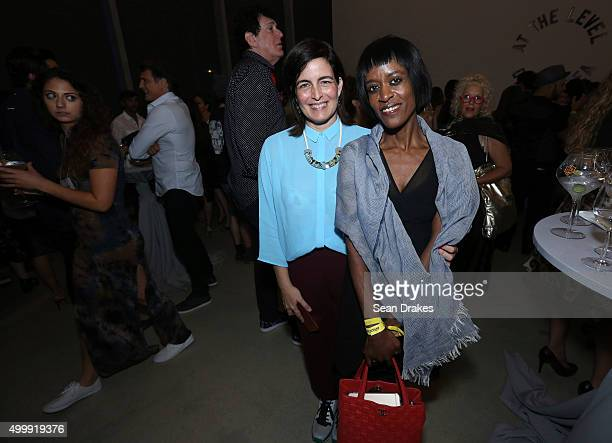 Artist Quisqueya Henriquez and Florence Lynch at Perez Art Museum Miami during Art Basel Miami Beach in Miami Florida on Thursday December 3 2015
