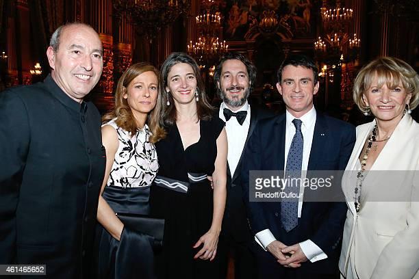 Artist Rachid Khimoune Violonist Anne Gravoin Amandine Gallienne and her husband actor Guillaume Gallienne French Prime Minister Manuel Valls and...