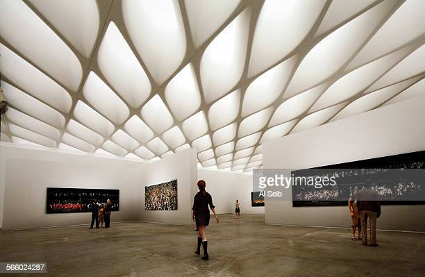 Artist rendering of the 35,000-square-foot, column-free third floor gallery of The Broad, the newest contemporary art museum in Los Angeles currently...