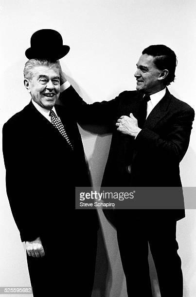 Artist Rene Magritte and gallerist Alexander Iolas