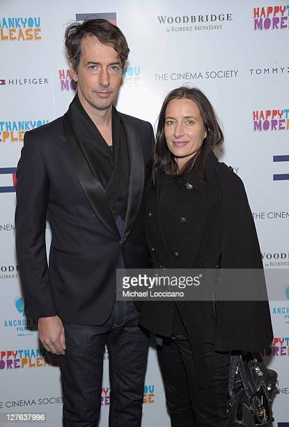 "Artist Richard Phillips and Josephine Meckseper attend ""happythankyoumoreplease"" hosted by the Cinema Society and Tommy Hilfiger at Landmark Sunshine..."